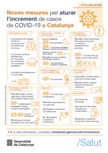 """""""Noves mesures per aturar l'increment de casos de Covid-19 a Catalunya"""""""